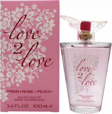 Love2Love Fresh Rose + Peach Eau de Toilette (EDT) 100ml Spray For Women