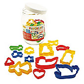 Bigjigs Toys Jar of 24 Pastry Cutters
