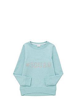 F&F Glitter Slogan Sweatshirt - Mint