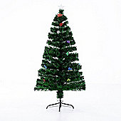 Homcom Artificial Christmas Tree Decorations Metal Stand w/ 16 Ornaments (4ft with 130 tips)