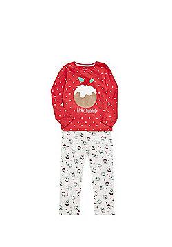 F&F Christmas Pudding Pyjamas - Red