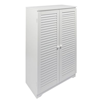 Buy Woodluv Free Standing Cabinet With Louvered Doors Cabinet From