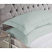 Julian Charles Luxury 180 Thread Count Oxford Pillowcases - Duck egg