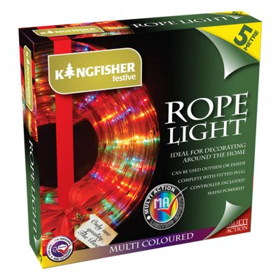 New 5M Multicolour LED Rope Light Indoor Outdoor Christmas Xmas Garden Flash
