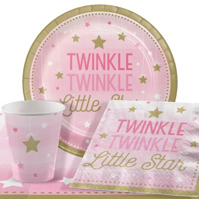 One Little Star Pink Party Pack - Value 8 Pack
