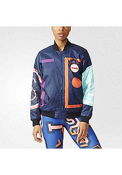 adidas Womens Stella McCartney Padded Stellasport Bomber Jacket - Multi