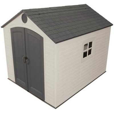 8 x 10 Life Plus Plastic Apex Shed with Plastic Floor and 1 Window (2.43m x 3.05m) 8ft x 10ft