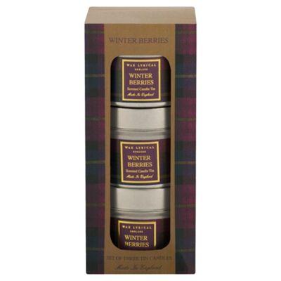 Wax Lyrical Heritage Tins Set of 3