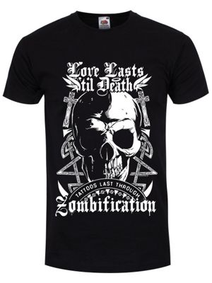 Tattoos Last Through Zombification Men's T-shirt, Black.