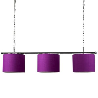 MiniSun Gulliver 3 Way LED Ceiling Light with Drum Shades - 6500K - Purple