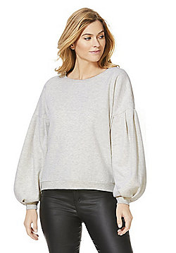 Only Balloon Sleeve Sweatshirt - Stone