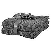 Hygro Cotton 2 Pack Hand Towels - Grey