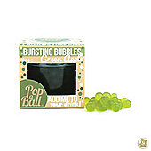 PopaBall Bursting Juicy Bubbles with Extendable Straw Green Apple Flavour