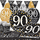 Sparkling Celebration 90th Birthday Party Pack - Deluxe Pack for 16