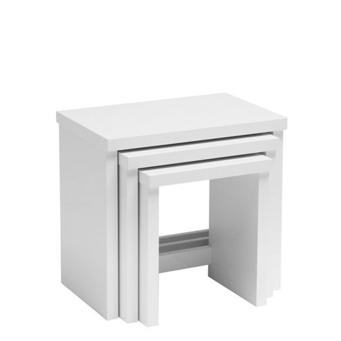 Caxton Manhattan Nest of Tables in White Gloss