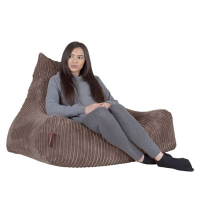 Lounge Pug® Lounger Beanbag - Cord Mink