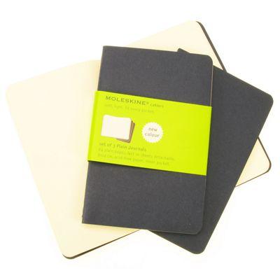 Moleskine Cahier Plain Pocket 3 Pack Blue Cover