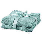 Hygro Cotton 2 Pack Hand Towels - Duck Egg