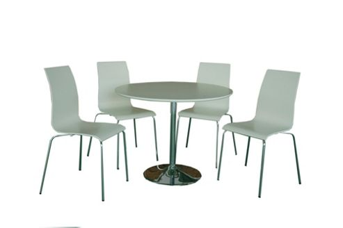 Home Zone Hoxton Five Piece Dining Set - White
