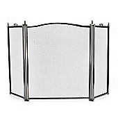 De Vielle 3 Panel Pewter Trim Firescreen