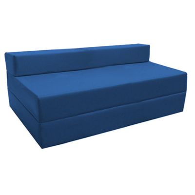 Blue Fold Out Waterproof Double Guest Z Bed Chair Folding Mattress Sofa Bed Futon
