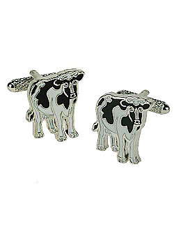 Cow Cufflinks with Crystal Eyes