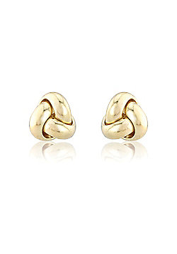 Jewelco London 9ct Yellow Gold - Knot - Earrings - Ladies