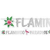 Flamingo Paradise Glitter Letter Banner - 1.35m