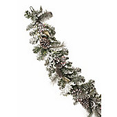 Frosted Berry and Pinecone Christmas Garland, 6ft