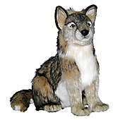 Hansa 37cm Seated Wolf Soft Toy
