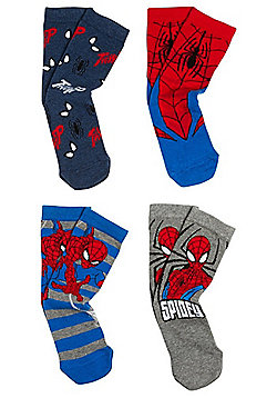 Marvel 4 Pair Pack of Spider-Man Socks - Multi