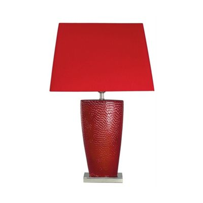 Hot Chilli Red Bahama Small Table Lamp with Red Shade