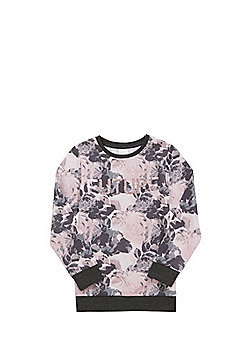F&F Two-Way Sequin Slogan Sweatshirt - Pink & Grey