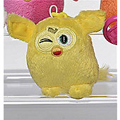 Furby 7cm Keychain - Plush, No Sound - Yellow