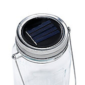 Solar Glass Jar Outdoor Lights, White, 3 Pack