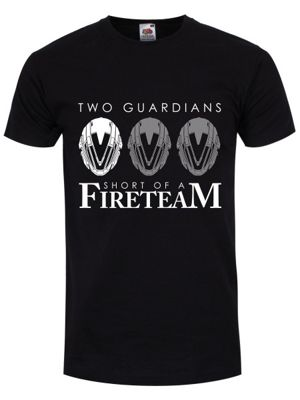 Two Guardians Men's T-shirt, Black.