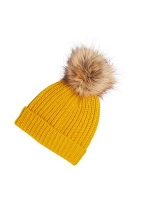 94c8cc7c7c2 Buy F F Rib Knit Pom Pom Beanie Hat from our Women s Winter ...