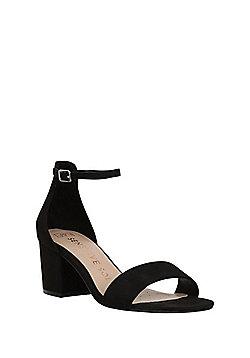 F&F Sensitive Sole Block Heel Sandals - Black