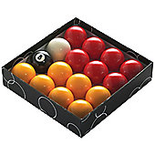 Powerglide Pool Ball Red/Yellow 1 7/8