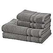 100% Cotton 2 Hand 2 Bath Towel Bale - Grey