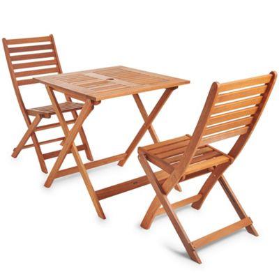 Buy Vonhaus Wooden Table And 2 Chair Garden Patio