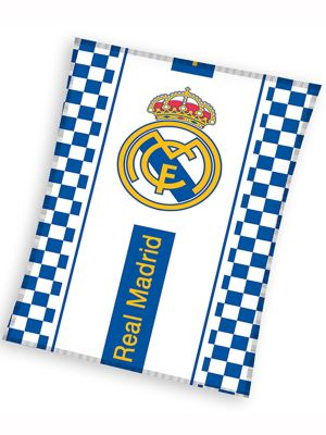 Real Madrid Checked Fleece Blanket