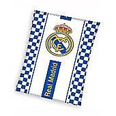Real Madrid Checked Fleece Blanket