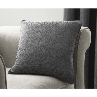 Curtina Voysey Graphite Cushion Cover - 43x43cm