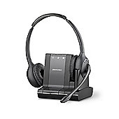 Plantronics Savi W720-M Wireless DECT Stereo Headset - Over-the-head - Circumaural - Black