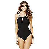 F&F Luxury Keyhole Detail Swimsuit - Black
