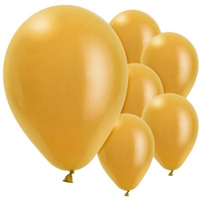 Gold 11 inch Latex Balloons - 10 Pack