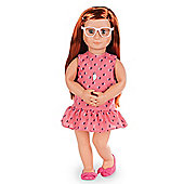 Our Generation 18-inch Doll Sabina With Book
