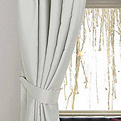 Homescapes Ivory Herringbone Chevron Curtains Tie Backs Pair