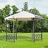 Outsunny 3.5x3.5m Gazebo Garden Pavilion Wedding Tent Waterproof Canopy w/4 Sidewall panels